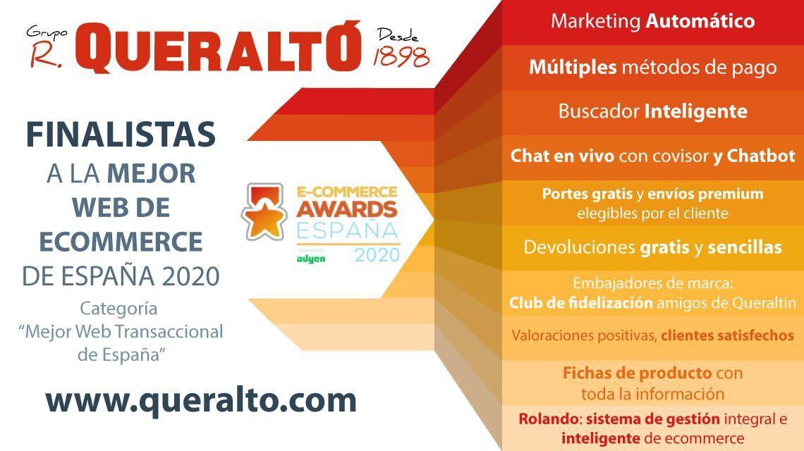 Queraltó, finalista a la mejor web de ecommerce de España 2020