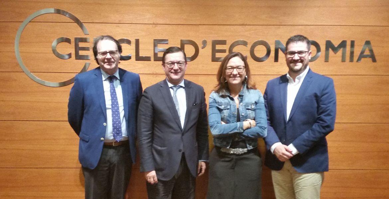 Puesta en común con el equipo directivo del Círculo de Economía de Barcelona