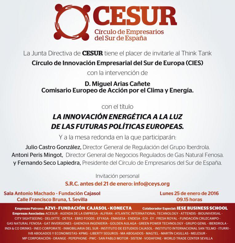 Presente y futuro del sector energético, con el Comisario Arias Cañete