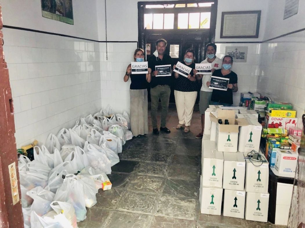 Corporación Jiménez Maña bate récord de solidaridad con 1.100 kg de ayuda.