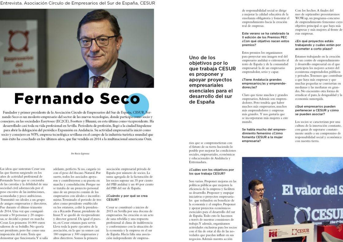 =  =En CESUR estamos para servir=  = Fernando Seco