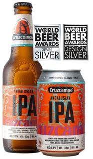 Dos medallas de plata reconocen el sabor y diseño de Cruzcampo Andalusian IPA, entre más de 2.200 cervezas de 50 países