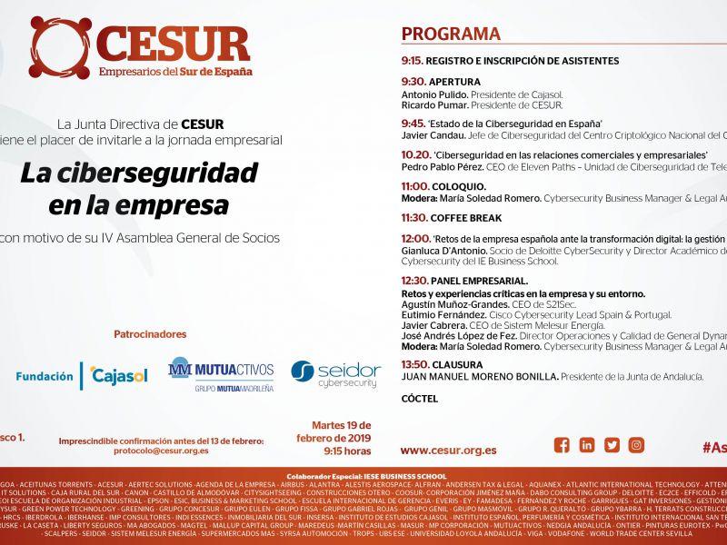 Jornada empresarial: Ciberseguridad en la empresa