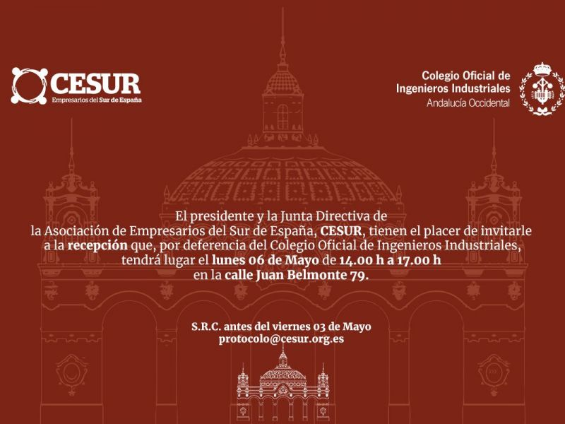 Recepción Institucional para socios de CESUR en la Feria de Sevilla