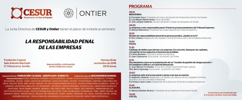 La responsabilidad penal de las empresas, próximo seminario de Cesur