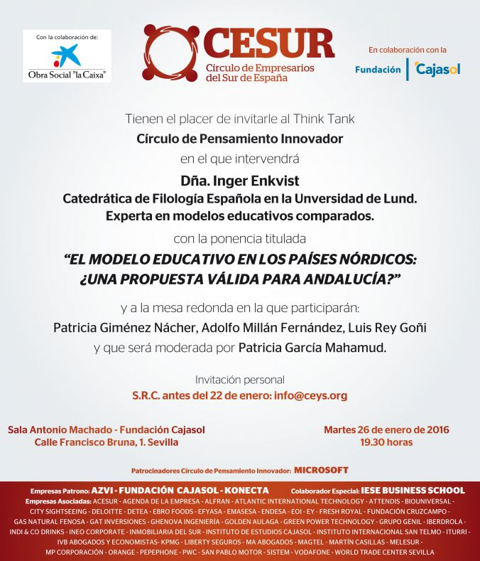 Los modélos educativos nórdicos inician el think tank de innovación educativa