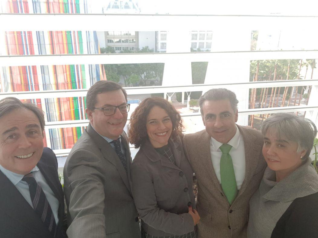 Parte de la comisión ejecutiva de CESUR se reúne con la consejera de Conocimiento, Investigación y Universidad, Lina Gálvez
